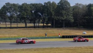 Vesa Siligren (68) and Will Perry (36) between NASCAR Bend and Left Hook at Virginia International Raceway (VIR)